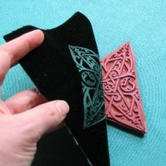 Embossing velvet The tutorial is here:  http://inklingsandimprints.net/pages/embossvelvet.php
