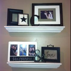 DIY shelves from crown molding