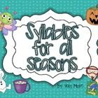 This 12 page freebie is just a seasonal pack with syllable practice for each season.  It has words to go with most months - your students will circ...