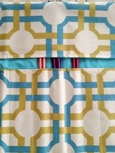 This knitting needle holder is sew cute!  @Quilted Cupcake used @Waverly fabric to keep her knitting needles organized! #waverize