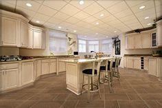 "Brown tile for the kitchen. 12""X12"" Montverde Brun / 12""X24"" Montverde Brun, Item # 126529."