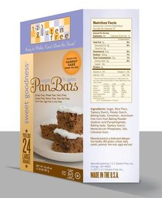 1-2-3 Gluten Free Spiced Pan Bars (gluten, dairy, peanut, corn and soy free)