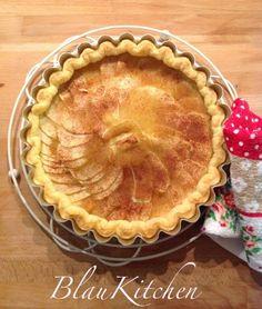 Tarta de manzana con crema de vainilla