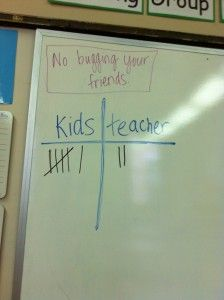 Kids vs. Teachers - a behavior management technique that works like magic! I reward my students at the end of the week if they beat me.  Teacher gets point if they misbehave, they get point for following the rules.