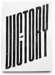 Victory – handmade linocut