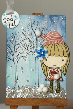 Winter Girl ATC