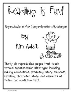 Thirty six reproducible pages that teach various comprehension strategies including making connections, predicting, story elements, retelling, char...