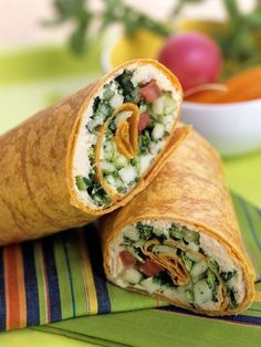 10 minute Mediterranean Tuna Salad Wrap, great idea for a lunch or a light dinner