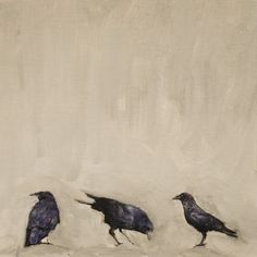 """Brian Barrer; """"untitled crows"""""""