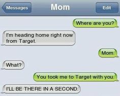 honestly something my mom would accidentally do to me.