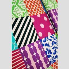 Piece Patchwork - Bright - Echino 2012 linen blend fabric by Etsuko Furuya