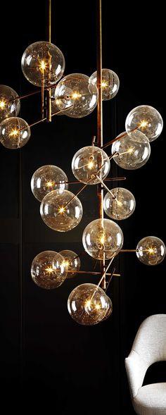 Bolle, design by Massimo Castagna Gallotti Radice 2014 | chandelier