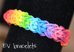 Rainbow Loom Rubberband Rubber Band Double X  Friendship Bracelet, Stretchable