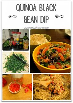 Quinoa Black Bean Dip - Great with chips or veggies! #healthy #recipe