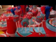 Video of a Dr Seuss Birthday Party Cat In The Hat style