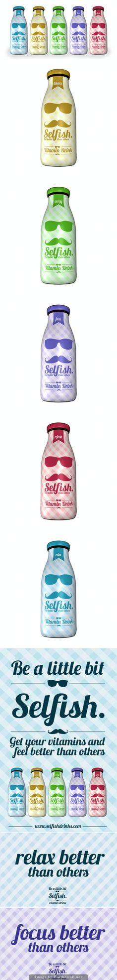 Let's be a little bit selfish #packaging : ) PD - created via http://www.moontroops.com/concept-design-selfish-vitamin-derinks/