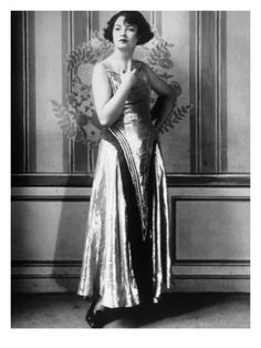 Evening Gown of Gold Cloth Designed by Paul Poiret, Paris, 1923