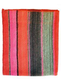 Bolivian Frazada Runner / Blanket, Red  Pink #home #decor