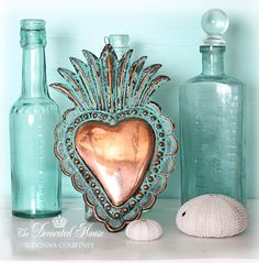The Decorated House: ~ Summer ~ Blues, Shells & a Copper Ex-Voto