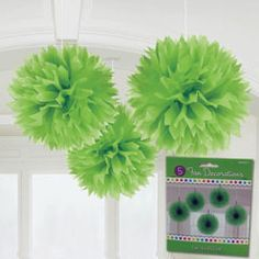 Green Fluffy Decorations from Windy City Novelties