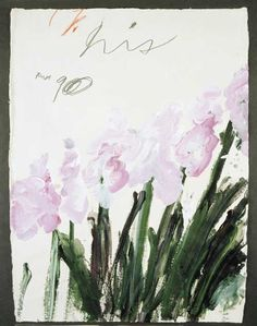 Cy Twombly  Iris, 1990