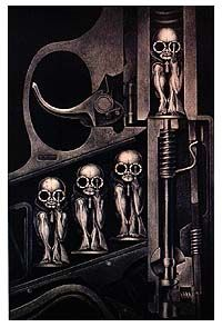 Bullet Babies! Another classic by Giger! Just think about the implications of this piece of art!