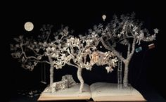 Wonderful book sculpture The baron in the trees, by Su Blackwell