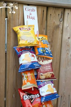 Chip and Snack Board for backyard parties- clever