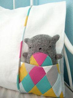 pocket pillowcase ... So cute!