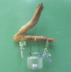 Driftwood Rack Plus Candle Holder Wooden by DivineDriftwood, $34.90