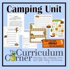 camping unit, camp theme, camping summer school, camp unit, classroom camp, camping classroom unit, curriculum corner, printabl, 1st grade
