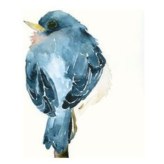 something to aspire to! bluebird, hanging decorations, watercolor paintings, artworks, art prints, bird art, blue bird, birds, blues