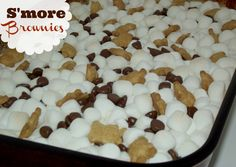 Super Easy S'more Brownies with Teddy Grahams! They are AMAZING!!