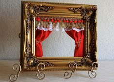 Puppet theater using your choice of picture frame.  Love this idea!!