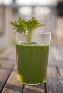 Detox Smoothie  Celery is a known kidney purifier, fennel is great for any digestive troubles, parsley detoxifies the liver and cucumber and lime juice help to flush it all out. If you choose to add cayenne pepper it will further help with detoxification, as it helps to flush the toxins out.