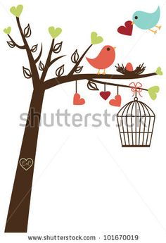 stock vector : Cute Bird Vector Card or Background