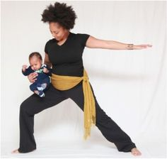 Mommy #yoga - start 'em out young!