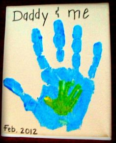 "Dad Craft! Can write something clever such as ""Always hand in hand"" on the card."