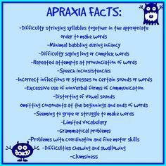 Apraxia Facts, Apraxia Awareness, Speech