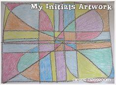 Initials Artwork: Clever Classroom blog