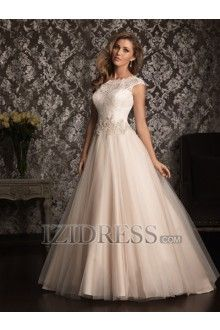 Ball Gown Scoop Tulle Wedding Dress