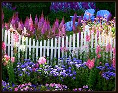 dangel799:  Beautiful flowers and garden by Heart Windows Art :)