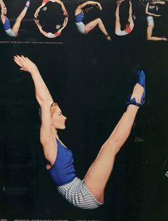 Horst [Horst Paul Albert Bohrmann], Lisa Fonssagrives for Vogue (UK) cover for August 1940