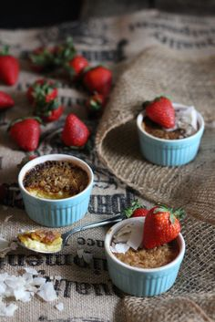 Coconut Creme Brulee - a rich, maple-infused version with just a hint of tropical flair