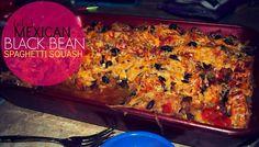 baked mexican black bean, mexican spaghetti, spaghetti squash, bake mexican, black beans, squash casserol, healthi, colleg recip, bean spaghetti