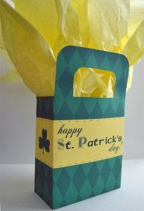 St Patrick's Day free printable boxes and bags | st patrick s day printables