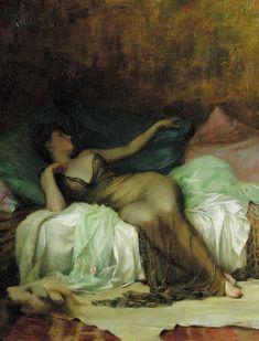 Odalisque, Theodore Jacques Ralli. Greek (1852-1909)