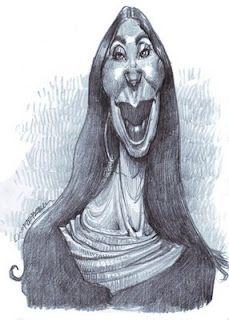 Artist:Jan Op De Beeck   Caricature:Cher