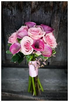 calla lilies and roses
