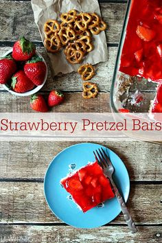 Strawberry Pretzel Bars Everyone's favorite dessert and it is so easy to make!